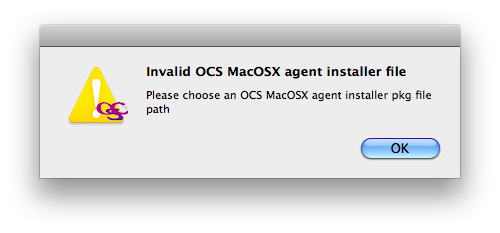 Mac OSX packager configuration package warn