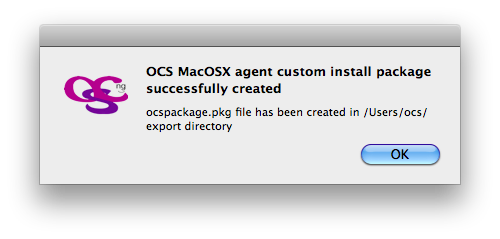 Mac OSX packager end notification