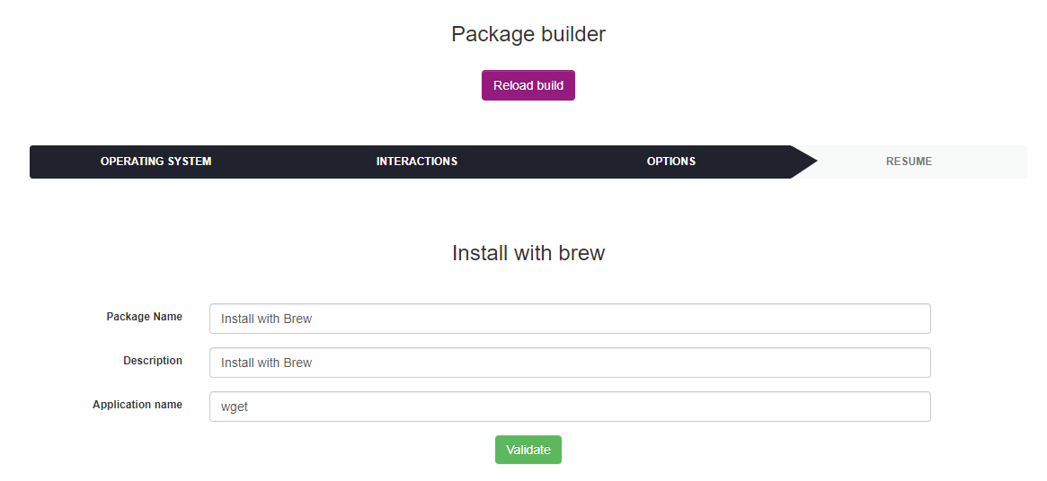 Install with brew form