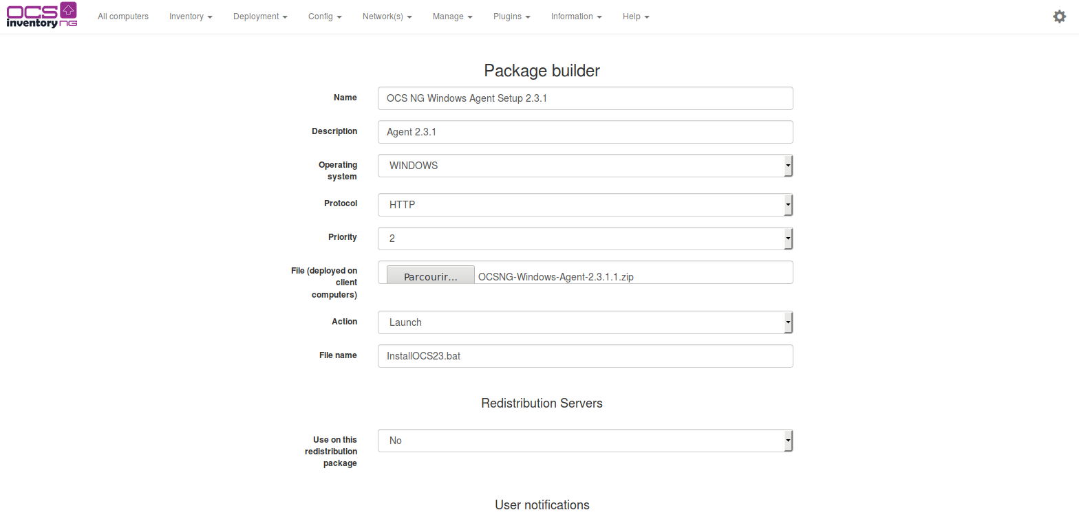 Package builder page launch