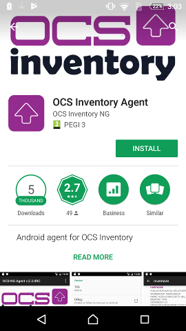 Download of android agent