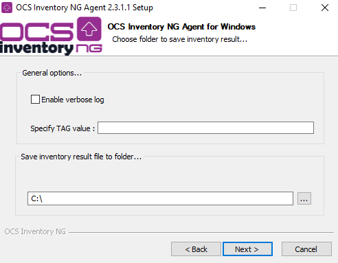 OCS Inventory NG Agent 2 X on Windows Operating Systems